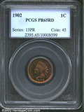 Proof Indian Cents: , 1902 1C PR65 Red PCGS. The glossy and highly reflective ...