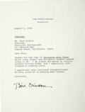Autographs:U.S. Presidents, President Bill Clinton Typed Letter Signed to Buzz Aldrin,...