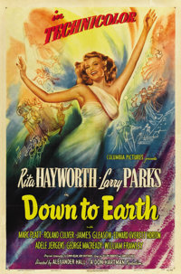 "Down to Earth (Columbia, 1947). One Sheet (27"" X 41"") Style A"