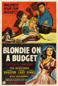 "Movie Posters:Comedy, Blondie on a Budget (Columbia, 1940). One Sheet (27"" X 41"")...."