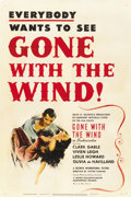 "Movie Posters:Academy Award Winner, Gone with the Wind (MGM, R-1947). One Sheet (27"" X 41"")...."