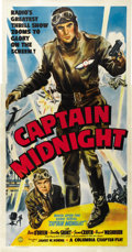 "Movie Posters:Serial, Captain Midnight (Columbia, 1942). Three Sheet (41"" X 81"")...."