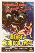 "Movie Posters:Science Fiction, The Beast with 1,000,000 Eyes! (American Releasing Corp., 1955).One Sheet (27"" X 41"")...."