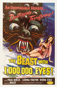 """The Beast with 1,000,000 Eyes! (American Releasing Corp., 1955). One Sheet (27"""" X 41"""")"""