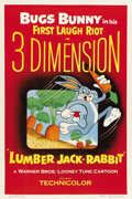 "Movie Posters:Animated, Lumber Jack-Rabbit (Warner Brothers, 1954). One Sheet (27"" X 41"")...."