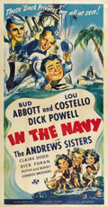 "Movie Posters:Comedy, In the Navy (Universal, 1941). Three Sheet (41"" X 81"")...."