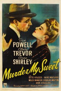 "Murder, My Sweet (RKO, 1944). One Sheet (27"" X 41"")"