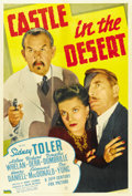"Movie Posters:Mystery, Castle in the Desert (20th Century Fox, 1942). One Sheet (27"" X41"")...."