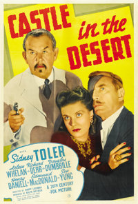"Castle in the Desert (20th Century Fox, 1942). One Sheet (27"" X 41"")"