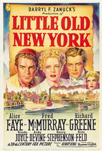 """Little Old New York (20th Century Fox, 1940). One Sheet (27"""" X 41"""") Style A"""