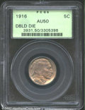 Buffalo Nickels: , 1916 5C Doubled Die Obverse AU50 PCGS. The otherwise ...