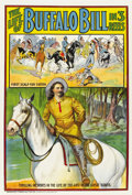 "Movie Posters:Western, The Life of Buffalo Bill (Pawnee Bill Film Co., 1912). One Sheet(28.25"" X 42"")...."