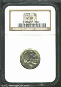 Proof Buffalo Nickels: , 1937 5C PR64 NGC. Well struck with milky yellow-tan ...