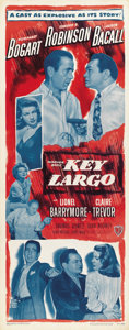 "Movie Posters:Film Noir, Key Largo (Warner Brothers, 1948). Insert (14"" X 36"")...."
