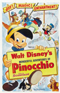 "Movie Posters:Animated, Pinocchio (RKO, R-1954). One Sheet (27"" X 41"").. ..."