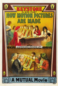 "Movie Posters:Short Subject, How Motion Pictures Are Made (Keystone, 1914). One Sheet (27"" X41"")...."