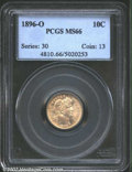 Barber Dimes: , 1896-O 10C MS66 PCGS. The 1896-O was produced to the ...