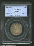 Seated Quarters: , 1873-CC 25C Arrows AU55 PCGS. The Mint Act of February 12,...