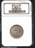 Seated Quarters: , 1878-CC 25C MS61 NGC. Sharply struck with dusky-lilac ...