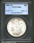 1881-CC $1 MS66 PCGS. The sharp strike is characteristic of many survivors of this popular, low mintage issue. The smoot...