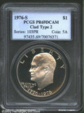 Proof Eisenhower Dollars: , 1976-S $1 Clad, Type Two PR69 Deep Cameo PCGS. Free of ...