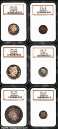 Early Proof Sets: , An NGC-Certified 1900 Proof Set. Included are: