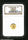 Commemorative Gold: , 1903 $1 Louisiana Purchase/McKinley MS67 NGC. This is a ...