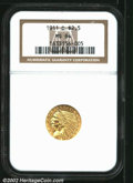Indian Quarter Eagles: , 1911-D $2 1/2 MS64 NGC. A beautiful near-Gem that has ...