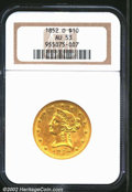 Liberty Eagles: , 1852-O $10 AU53 NGC. The '52-O is a scarce New Orleans ...