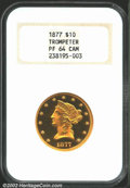 Proof Liberty Eagles: , 1877 $10 PR64 Cameo NGC. Ex: Trompeter. This coin was ...