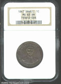 Coins of Hawaii: , 1847 1C Hawaii Cent MS63 Brown NGC. Deep purple-brown in ...