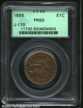 Patterns: , 1855 Flying Eagle Cent, Judd-170, Pollock-196, R.6(?), ...