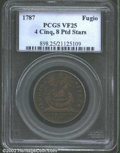 Colonials: , 1787 1C Fugio Cent, STATES UNITED, Eight-Pointed Stars VF25 ...