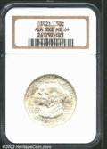 1921 50C Alabama 2x2 MS64 NGC. This silver-white near-Gem is untoned with a bold strike. Only a few trivial abrasions st...