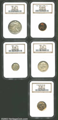 Proof Sets: , 1936 Proof Set NGC. The Cent is the brilliant variety and g...