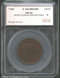Additional Certified Coins: , 1794 1C Head of 1793 Cent MS60 Brown, Micro Porous Obverse, ...