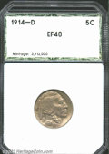 Additional Certified Coins: , 1914-D 5C Nickel XF40 PCI (XF40). Both sides are evenly ...