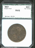 Additional Certified Coins: , 1807 50C Draped Bust Half Dollar Fine 15 PCI (Fine 15). O-...