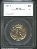 Additional Certified Coins: , 1921-S 50C Half Dollar AU55 Old / Light Cleaning SEGS (AU55 ...