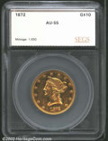 Additional Certified Coins: , 1872 $10 Eagle AU55 SEGS (AU50 Polished). Only 1,650 ...