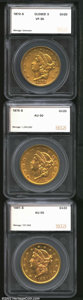 Additional Certified Coins: , 1873-S $20 Closed 3 Double Eagle VF35 SEGS (VF35), good ...