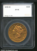 Additional Certified Coins: , 1878-CC $20 Double Eagle XF45 SEGS (XF40 Cleaned). ...