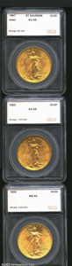Additional Certified Coins: , 1907 $20 Arabic Numerals Double eagle AU58 SEGS (AU58), ...
