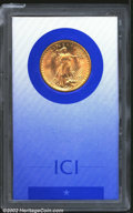 Additional Certified Coins: , 1907 $20 Arabic Numerals Double Eagle MS64 ICI (AU58). ...