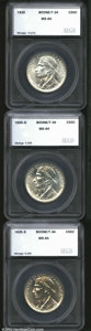 Additional Certified Coins: , 1935 Boone Half Dollar PDS Set MS64 SEGS (MS62 to MS64). ...