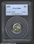 "Proof Roosevelt Dimes: , 1950 10C PR 65 PCGS. Mintage: 51,386. The latest Coin World ""..."