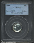 "Proof Roosevelt Dimes: , 1955 10C PR 65 PCGS. Mintage: 378,200. The latest Coin World ""..."
