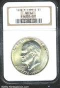 Eisenhower Dollars: , 1976-S $1 Silver MS66 NGC. Mintage: 11,000,000. The latest ...