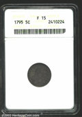 Early Half Dimes: , 1795 H10C Fine15 ANACS. Mintage: 78,600. ...