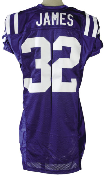 new product f0070 b700e 2003 Edgerrin James Game Worn Jersey. The star running back ...